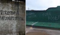 Acabou a paciência: muros ao redor de CT do Bahia são pichados
